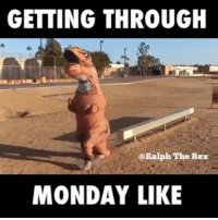 Dank, Mondays, and Monday: GETTING THROUGH  Ralph The Rex  MONDAY LIKE Feels like the longest day of the week 😭😭  By Ralph The Rex