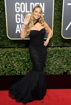 daiilycelebs:    1/7/18 - Mariah Carey at the 75th Annual Golden Globe Awards in LA.   : GGA daiilycelebs:    1/7/18 - Mariah Carey at the 75th Annual Golden Globe Awards in LA.