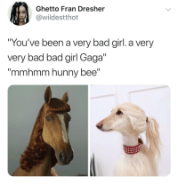"Bad, Ghetto, and Gif: Ghetto Fran Dresher  @wildestthot  You've been a very bad girl. a very  very bad bad girl Gaga""  ""mmhmm hunny bee"" faultyfoxy:  kristenwiiggle:  the new season of bojack looks good."