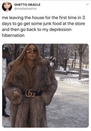 me irl by KGBree MORE MEMES: GHETTO ORACLE  madlatinathot  me leaving the house for the first time in 3  days to go get some junk food at the store  and then go back to my deprèssion  hibernation me irl by KGBree MORE MEMES