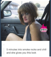 "<p><strong>Netflix and chill?</strong></p><p><a href=""http://www.ghettoredhot.com/smoke-rock-and-chill/"">http://www.ghettoredhot.com/smoke-rock-and-chill/</a></p>: ghetto  redhot  5 minutes into smoke rocks and chill  and she gives you this look <p><strong>Netflix and chill?</strong></p><p><a href=""http://www.ghettoredhot.com/smoke-rock-and-chill/"">http://www.ghettoredhot.com/smoke-rock-and-chill/</a></p>"