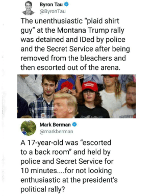 ghiraheeheeheem: robotsandfrippary:  whitepeopletwitter: Reality is stranger than fiction that's some Nazi shit right there.  Thought this was fake or a misunderstanding but https://www.cnn.com/2018/09/08/politics/plaid-shirt-guy-trump-montana-rally-cnntv/index.html  : ghiraheeheeheem: robotsandfrippary:  whitepeopletwitter: Reality is stranger than fiction that's some Nazi shit right there.  Thought this was fake or a misunderstanding but https://www.cnn.com/2018/09/08/politics/plaid-shirt-guy-trump-montana-rally-cnntv/index.html