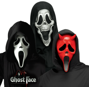 Easter, Future, and Ghost: Ghost Face  Ghost Face is a registered trademark of Easter Unlimited, Inc./Fun World Div. All Rights Reserved Any chance of us getting the middle mask in the future?