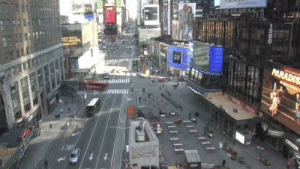 Ghost Town/ New York City — Times Square March 16, 2020: Ghost Town/ New York City — Times Square March 16, 2020