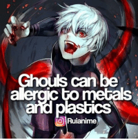 QOTD: Favourite Ghoul? | Follow @ruianime for anime facts | 🌟 . . Check out @tokyoghoulgram and @okacos and @bestanimefacts :): Ghouls can be  alergic to metals  and plastics  TO Ruianime QOTD: Favourite Ghoul? | Follow @ruianime for anime facts | 🌟 . . Check out @tokyoghoulgram and @okacos and @bestanimefacts :)