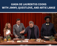 "Target, How To, and Http: GIADA DE LAURENTIIS COOKS  WITH JIMMY, QUESTLOVE, AND ARTIE LANGE   <p>Giada De Laurentiis teaches Jimmy, Questlove, and Artie Lange <a href=""http://www.nbc.com/the-tonight-show/segments/10811"" target=""_blank"">how to make one of her veal recipes</a>!</p>"