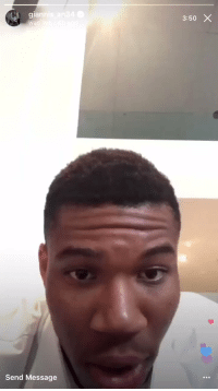 "Memes, 🤖, and Via: giannis an34  3:50 X  Send Message Do you think Mo Bamba is better than you?  Giannis Antetokounmpo: ""HELL NO!""   (Via @AlyshaTsuji)    https://t.co/H0Cit5PHnv"
