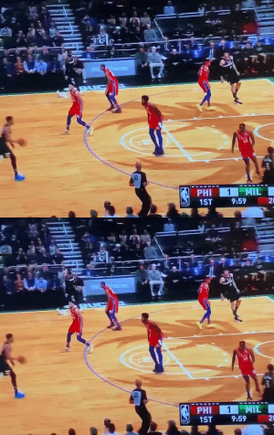 Giannis going right at Embiid in the paint👀 https://t.co/nL9aBhlyZz: Giannis going right at Embiid in the paint👀 https://t.co/nL9aBhlyZz