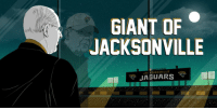Head, Memes, and Giant: GIANT OF  JACKSONVILLE  JAI KSONVILLE From head coach to executive, Tom Coughlin is still running the @Jaguars his way: relentlessly. https://t.co/txPjAKdb98 (via @judybattista) https://t.co/LGEib2KdiW