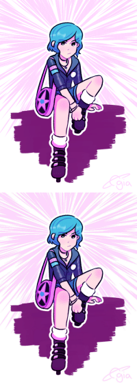 Love, Target, and Tumblr: giasplanetar1um:been rereading scott pilgrim recently so i felt like doodlin ramona cause i love her outfits the most :P
