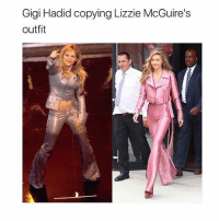 Memes, Gigi Hadid, and 🤖: Gigi Hadid copying Lizzie McGuire's  outfit
