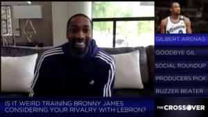 LeBron asked Gilbert Arenas to train Bronny!   (Via @watch_SITV)  https://t.co/CTuQTwILGs: GILBERT ARENAS  GOODBYE GIL  SOCIAL ROUNDUP  PRODUCERS PICK  BUZZER BEATER  IS IT WEIRD TRAINING BRONNY JAMES  CONSIDERING YOUR RIVALRY WITH LEBRON?TCROSS  VER LeBron asked Gilbert Arenas to train Bronny!   (Via @watch_SITV)  https://t.co/CTuQTwILGs