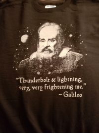 "Quite possibly my favorite gift this holiday season.: GILDAN  Tbunderbolt & ligbtning,  very, very frigbtening me.""  Galileo Quite possibly my favorite gift this holiday season."
