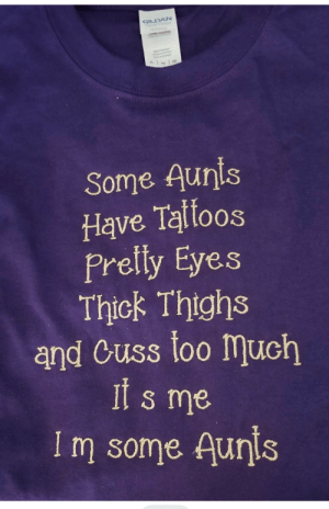 This one popped up on my feed. 5 levels of specificity!: GILDAN  TONAL  TO  Some Aunis  Have Talloos  Prelly Eyes  Thick Thighs  and Cuss loo much  it s me  Im some Aunis This one popped up on my feed. 5 levels of specificity!