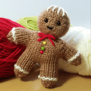 Gingerbread Man Knitting Pattern Fast and Cute Yarn Stash Knit. for ...: Gingerbread Man Knitting Pattern Fast and Cute Yarn Stash Knit. for ...