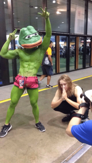 gingerjews:  Holy fucking shit I just met the most daddy Pepe ever  I fucking envy you ginger jew: gingerjews:  Holy fucking shit I just met the most daddy Pepe ever  I fucking envy you ginger jew