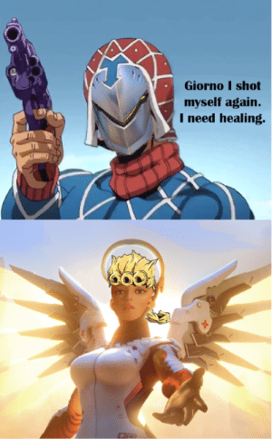 Sex Pistols Number 5 is crying in the distance: Giorno I shot  myself again.  I need healing Sex Pistols Number 5 is crying in the distance