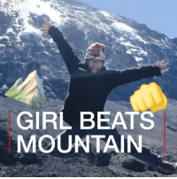 Africa, Memes, and Beats: GIRL BEATS  MOUNTAIN Roxy Getter has become the youngest girl to make it to the top of the highest peak in Africa: Mount Kilimanjaro. Roxy - who is eight years old and from Florida - says she didn't think she would make it to the top. But this girl could. gogetter girl travel bbcnews bbcshorts inspiring instatravel