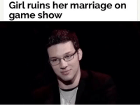 She's so wrong for that 😳😳😳 Follow @typicalbruh for more: Girl ruins her marriage on  game show She's so wrong for that 😳😳😳 Follow @typicalbruh for more