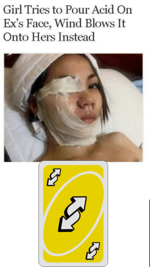 Big Oof: Girl Tries to Pour Acid On  Ex's Face, Wind Blows It  Onto Hers Instead Big Oof