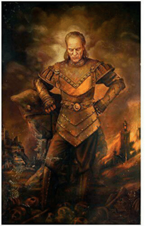 Girlfriend is convinced there is a ghost in our house who wants our newborn baby. I just ordered this painting for the kid's room to calm her nerves. The great Vigo will keep an eye out for pesky ghosts.: Girlfriend is convinced there is a ghost in our house who wants our newborn baby. I just ordered this painting for the kid's room to calm her nerves. The great Vigo will keep an eye out for pesky ghosts.