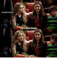 Memes, 🤖, and Girl Meets World: GIRLMEETSWORLDHD  Girl Meets World.  Now get it. GirlMeetsGoodbye Don't forget to watch the series finale tonight at 6 pm. The last episode of the show ❤️️