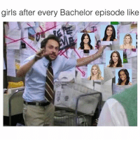 Girls, Memes, and Bachelor: girls after every Bachelor episode like Adding up my points for my bachelor fantasy league 😂🌹🥀 @landing.strip