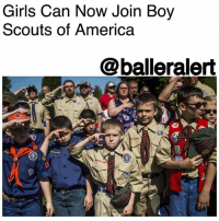 """Girls Can Now Join Boy Scouts of America-Blogged by: @RaquelHarrisTV ⠀⠀⠀⠀⠀⠀⠀ ⠀⠀⠀⠀⠀⠀⠀ It's official, girls will now be allowed to join Boy Scouts of America. This unanimous decision made by the board will also create the opportunity for older girls to earn the highest honor of being an Eagle Scout. ⠀⠀⠀⠀⠀⠀⠀⠀ ⠀⠀⠀⠀⠀⠀⠀ ⠀⠀⠀⠀⠀⠀⠀ On Wednesday the organization said, """"The historic decision comes after years of receiving requests from families and girls,"""" Boy Scouts of America said in a statement. """"[T]he organization evaluated the results of numerous research efforts, gaining input from current members and leaders, as well as parents and girls who've never been involved in Scouting - to understand how to offer families an important additional choice in meeting the character development needs of all their children.""""⠀⠀⠀⠀⠀⠀⠀⠀⠀ ⠀⠀⠀⠀⠀⠀⠀ ⠀⠀⠀⠀⠀⠀⠀ With families dealing with more hectic schedules than ever before, BSA says the goal is to also help out parents and their busy lives. ⠀⠀⠀⠀⠀⠀⠀⠀⠀ ⠀⠀⠀⠀⠀⠀⠀ ⠀⠀⠀⠀⠀⠀⠀ In a statement BSA said, """"Families today are busier and more diverse than ever. Most are dual-earners and there are more single-parent households than ever before, making convenient programs that serve the whole family more appealing."""" ⠀⠀⠀⠀⠀⠀⠀⠀⠀ ⠀⠀⠀⠀⠀⠀⠀ ⠀⠀⠀⠀⠀⠀⠀ For those who say, """"Well, there's Girls Scouts,"""" this is true. However, the highest honor you can receive is the """"Gold Award"""" which isn't as notable as BSA's Eagle Scout title. In addition, being an Eagle Scout can provide long-term advantages professionally and educationally.⠀⠀⠀⠀⠀⠀⠀ ⠀⠀⠀⠀⠀⠀⠀ ⠀⠀⠀⠀⠀⠀⠀ The big news just so happened to fall on International Day of the Girl, which celebrates and prompts the conversation of equal opportunities for young women around the world.: Girls Can Now Join Boy  Scouts of America  @balleralert Girls Can Now Join Boy Scouts of America-Blogged by: @RaquelHarrisTV ⠀⠀⠀⠀⠀⠀⠀ ⠀⠀⠀⠀⠀⠀⠀ It's official, girls will now be allowed to join Boy Scouts of America. This unanimous decision made by the board will"""