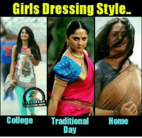 College, Girls, and Memes: Girls Dressing Style.  KKAD  KAD InSTA  College Traditional  Home  Day :p