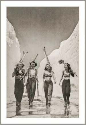 Girls, Gone, and Huge: Girls Gone Skiing 1940s Ski Poster | I need this - in a huge print