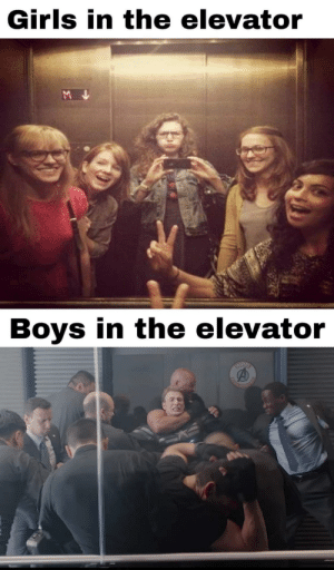 Girls, Boys, and Stolen: Girls in the elevator  Boys in the elevator  HARKER  EL Stolen