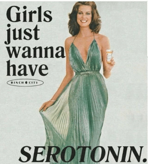 Girls, Serotonin, and City: Girls  Just  wanna  have  BINCH CITY  SEROTONIN.