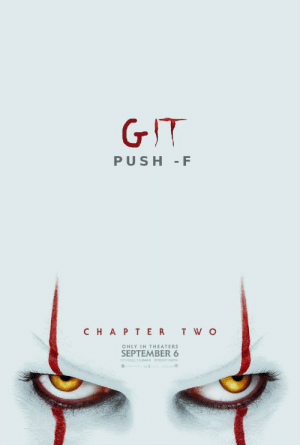 Far scarier than the actual movie: GIT  PUSH F  CHAP TER T W O  ONLY IN THEATERS  SEPTEMBER 6  ENPERENCE IT INMAX  0OLY CINEMA Far scarier than the actual movie