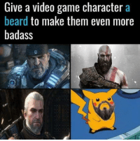 Beard, Club, and Tumblr: Give a video game character a  beard to make them even more  badass laughoutloud-club:  Why not?