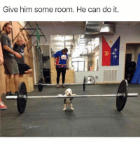 Memes, 🤖, and Him: Give him some room. He can do it. One like equals one respek for the little guy