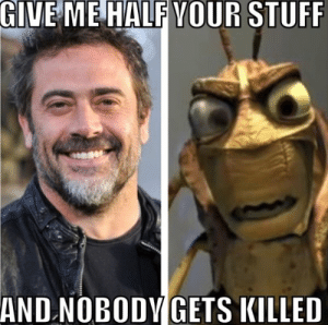 Funny, Memes, and Stuff: GIVE ME HALF VOUR STUFF  AND.NOBODVGETS KILLED 35 Funny Walking Dead Memes That Make A Zombie Apocalypse Worth It