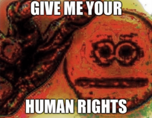 : GIVE ME YOUR  HUMAN RIGHTS