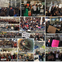Politics isn't about presidents, it's about power.  Thank you for standing together. Our solidarity is our strength. #NoBanNoWall: Give Me your tired,  HOUSTON  DALLAS  your huddled mass  yearning  BREATHE FREE  RACE  SALT LAKE CITY  ONE  CHICAGO  PORTLAND  WASHINGTON DC  SAN FRANCISCO  AGAIN  MINNEAPOLIS-ST PAUL  NEWARK  MILWAUKEE  LOS ANGELES  SAN DIEGO  SEATTLE TO COMA  Bernie  DENVER BOSTON  1/28/2017 Politics isn't about presidents, it's about power.  Thank you for standing together. Our solidarity is our strength. #NoBanNoWall