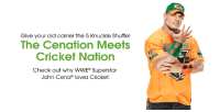 I loved teaming up with Cricket Wireless to give #Cenation something to smile about.  Head over to their website to learn more about their affordable plans and hot deals! http://mycrk.it/CenaCricket: Give your old carrier the 5 Knuckle Shuffe!  The Cenation Meets  Cricket Nation  Check out why WWE Superstar  John Cena loves Cricket. I loved teaming up with Cricket Wireless to give #Cenation something to smile about.  Head over to their website to learn more about their affordable plans and hot deals! http://mycrk.it/CenaCricket
