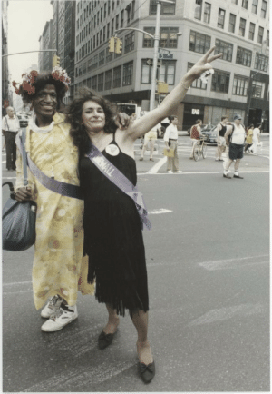 givemearmstopraywith:  marsha p. johnson and sylvia rivera, founders of STAR and the first pride parades, in 1989 happy pride month! the stonewall uprising was a riot started by trans women of colour against police brutality. support black lives. support trans lives. love fiercely. throw bricks. acab. : givemearmstopraywith:  marsha p. johnson and sylvia rivera, founders of STAR and the first pride parades, in 1989 happy pride month! the stonewall uprising was a riot started by trans women of colour against police brutality. support black lives. support trans lives. love fiercely. throw bricks. acab.