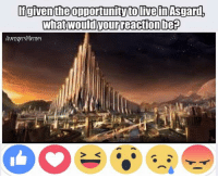 ~Deadpool: given the opportunity to Ivein Asgard,  what would our reactionbep  Avengers Memes ~Deadpool
