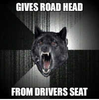 Head, Wolf, and Insanity: GIVES ROAD HEAD  FROM DRIVERS SEAT Insanity Wolf on entertaining passengers