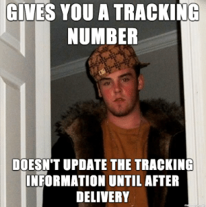 The United States Postal Service.: GIVES YOU A TRACKING  NUMBER  DOESN'T UPDATE THE TRACKING  INFORMATION UNTIL AFTER  DELIVERY The United States Postal Service.