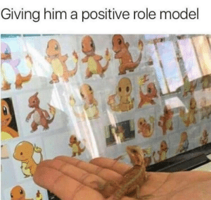 Positive role models are important: Giving him a positive role model Positive role models are important