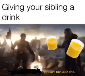 Haven, One, and You: Giving your sibling a  drink  You have the little one. Haven't seen one like this yet