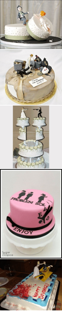 kendralynora:  mysharona1987: Divorce cakes. I didn't even know these existed.  at first i literally thought these were heterosexual wedding cakes trying to be funny   Same: GLA  OUT!!   PROBLEM SOL  ugar  pice kendralynora:  mysharona1987: Divorce cakes. I didn't even know these existed.  at first i literally thought these were heterosexual wedding cakes trying to be funny   Same