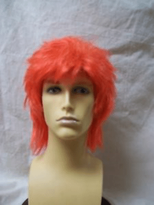 David 80s Spiked Mullet Ziggy Stardust Starman Bowie Color Mixed Orange