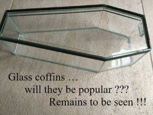 Groundbreaking. by lloydyhats MORE MEMES: Glass coffins..  will they be popular???  Remains to be seen!!! Groundbreaking. by lloydyhats MORE MEMES