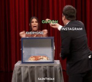 Funny, Instagram, and Games: GLITCH  INSTAGRAM  EVERYONE  SAINTHOAX Instagram is playing games again