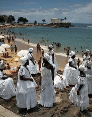 Tumblr, Beach, and Blog: global-musings:  Candomble festival on the beachLocation: Salvador, BrazilPhotographer: Anne Menke